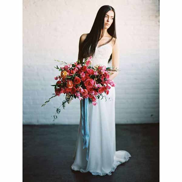 Bare Root Flora - Ashley Sawtelle - Magenta Pink Bridal Bouquet - Colorado