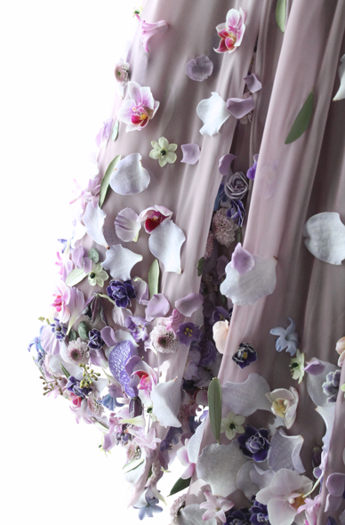 Joseph Massie Lavender Floral Dress Details