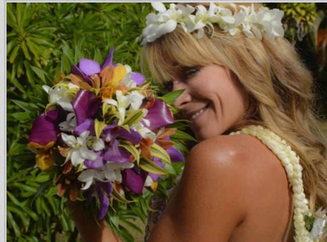 Tifney of Passion Flowers Kauai - Tropical Bridal Bouquet