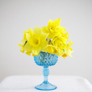 Blue Glass Goblet Vintage