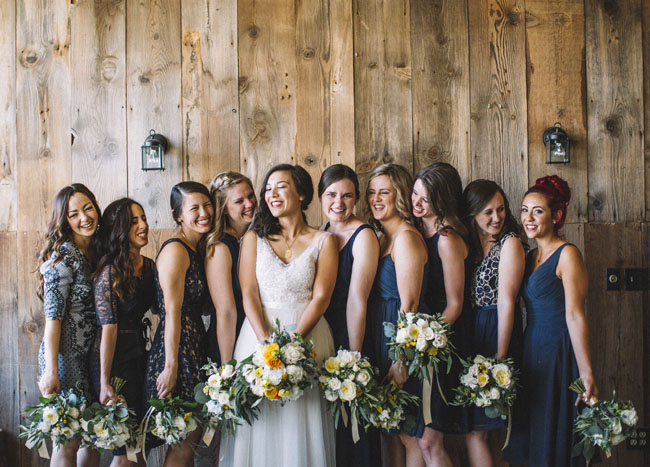Fleurie Flowers, Reedley, California, wedding party