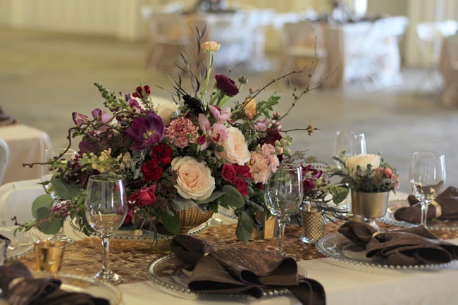 Fleurie Flowers, Reedley, California, compote floral design