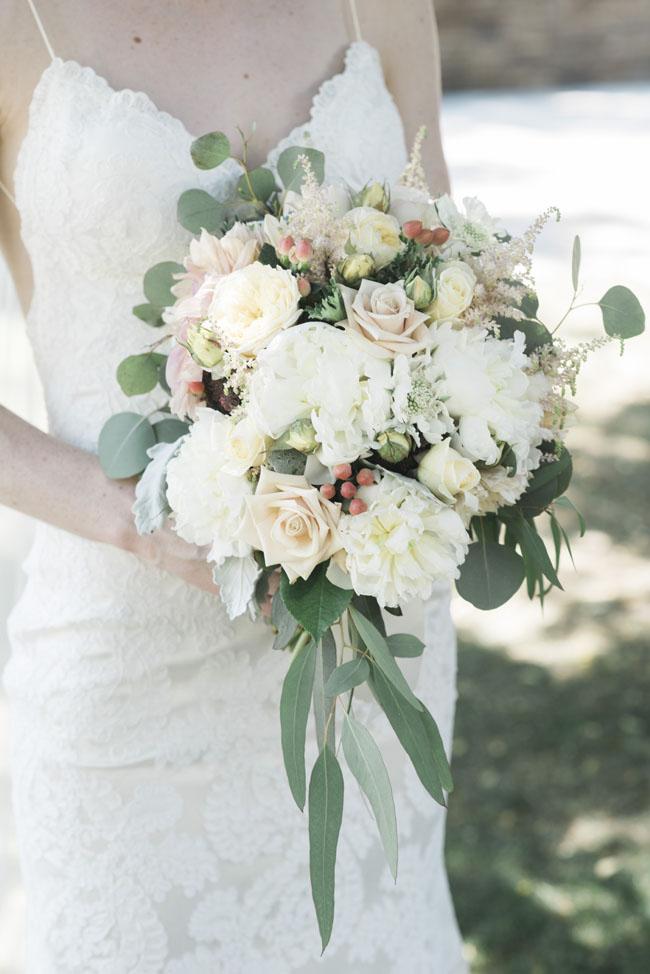 Fleurie Flowers, Reedley, California, blush bridal bouquet