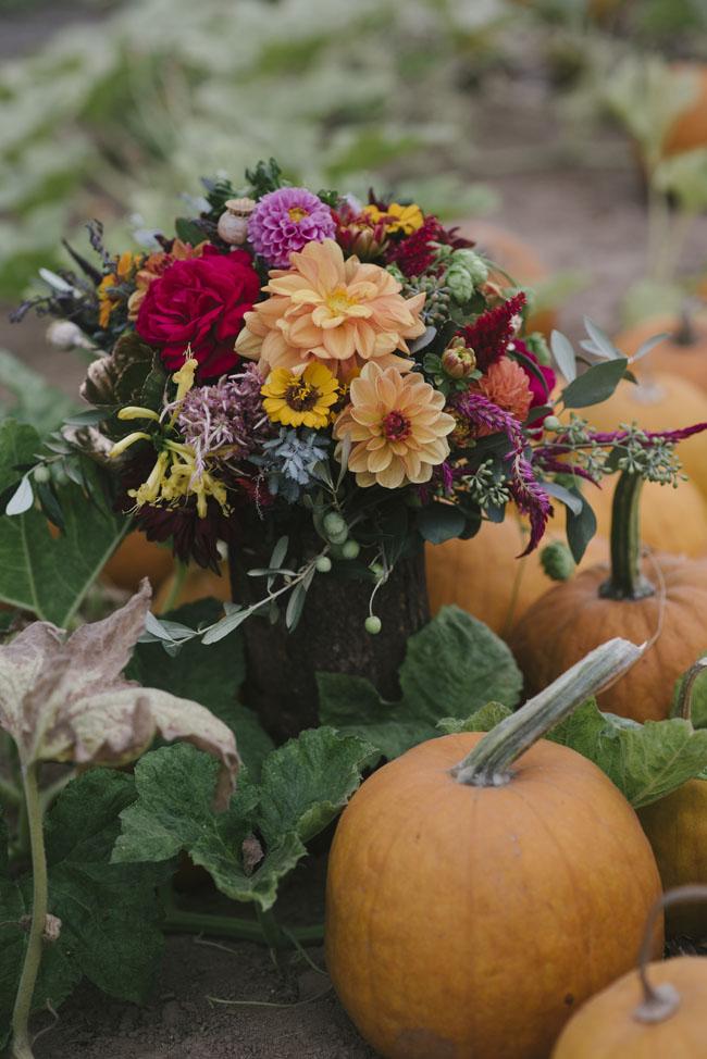 Fleurie Flowers, Reedley, California, autumn floral arrangement