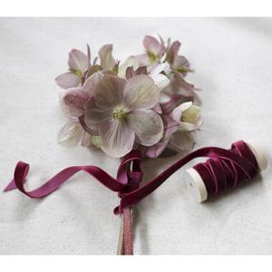 """3/8"""" th width ribbon, Burgundy Velvet Ribbon, Burgundy Merlot Red Velvet Ribbon"""