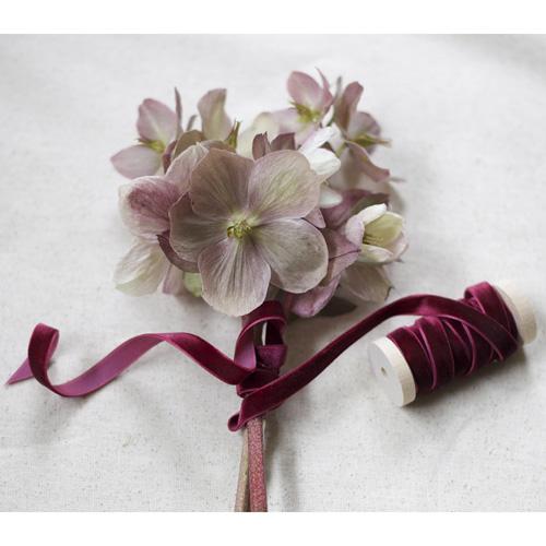 3/8' Width Velvet Ribbon, Merlot Red Burgundy Velvet Ribbon