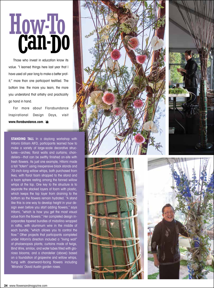 Florabundance Design Days featured in Flowers& Magazine