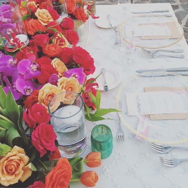 Florenta Floral Design - Mexico - vibrant table setting