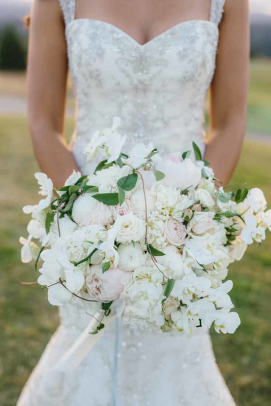 Kaleb Norman James - White bridal bouquet