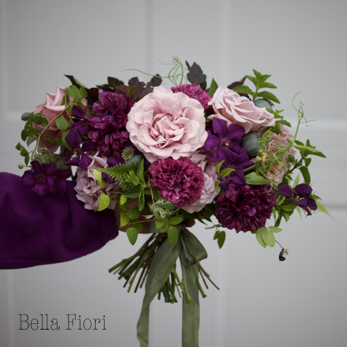 Bella Fiori - Bouquet of koko loko roses, peony poppies and clematis