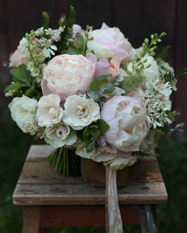 Floral Verde LLC - Cincinnati Florist - blush pink and cream bridal bouquet
