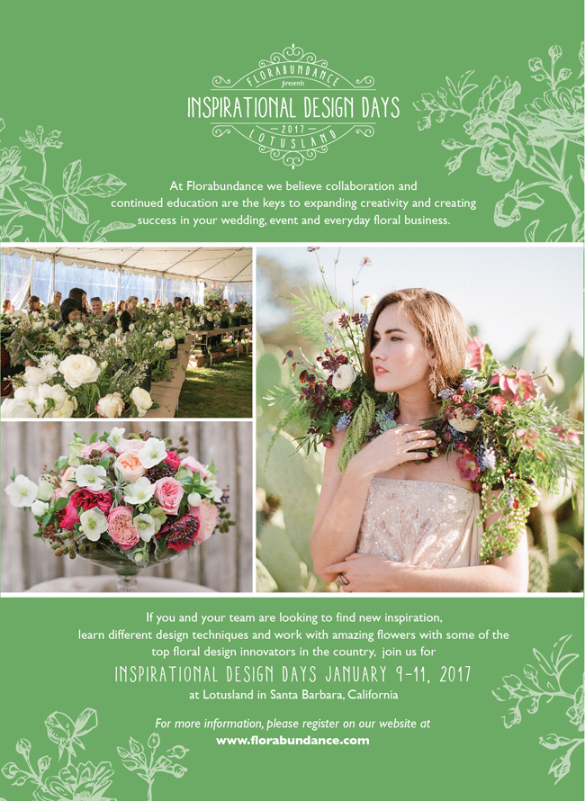 Florabundance Inspirational Design Days 2017