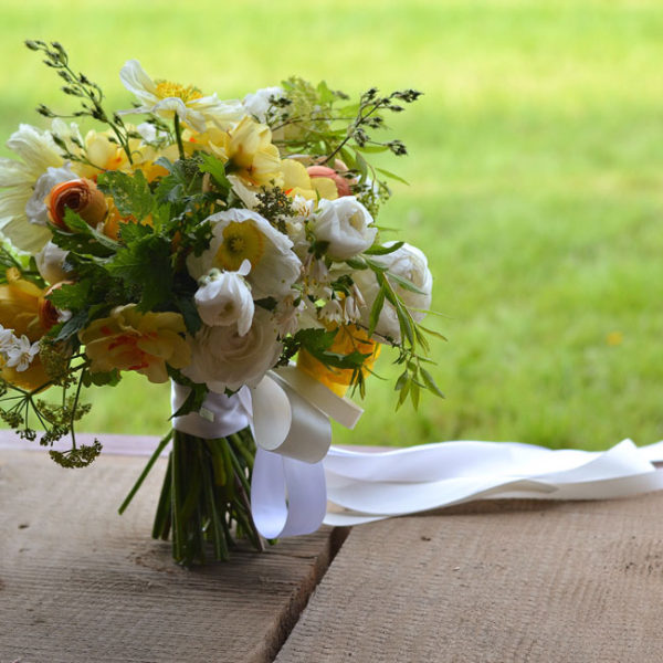 Buckeye Blooms - bridal bouquet with poppies, peonies, ranunculus