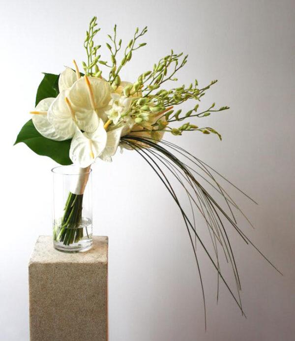 Rachel Cho Floral Design - bouquet with orchids and anthurium