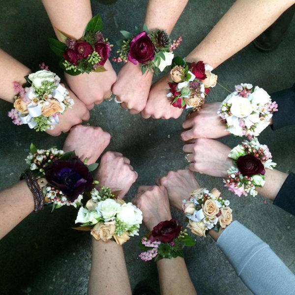 Flirty Fleurs Floral Design Classes in Seattle, Washington - how to design a wrist corsage