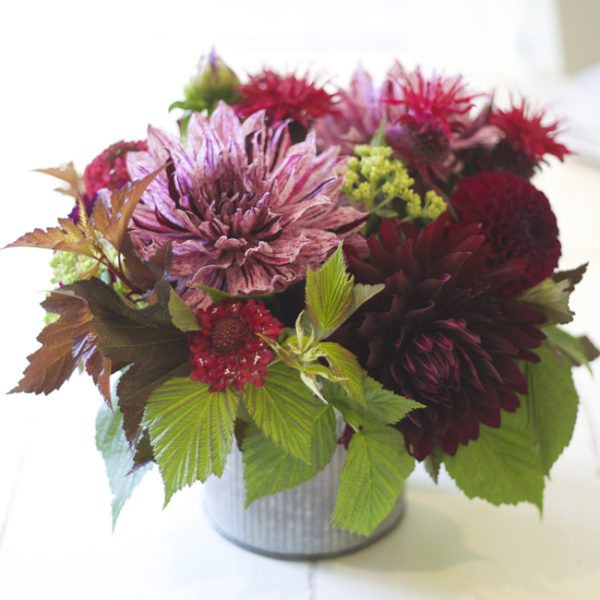 Bella Fiori design with dahlias