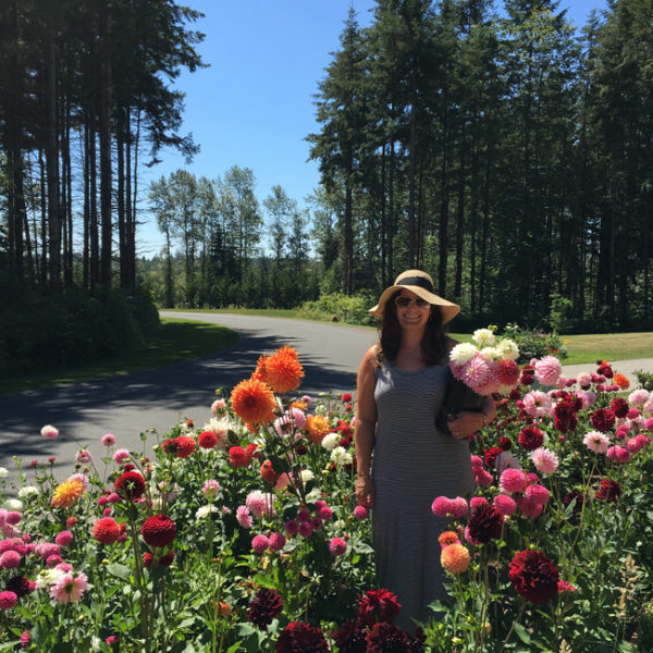 Amy of Gather came by to check out the dahlia patch