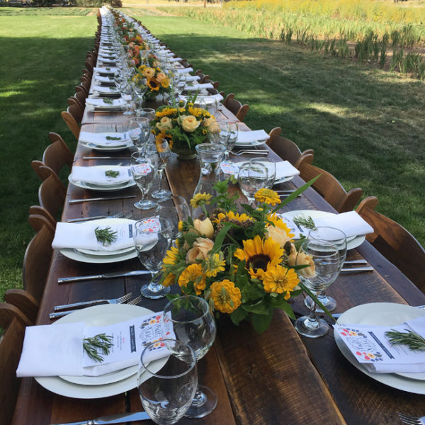 Field to Vase dinner in Boulder, Colorado.