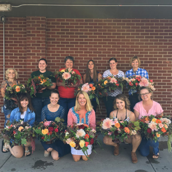Flirty Fleurs Floral design workshop in Denver, Colorado