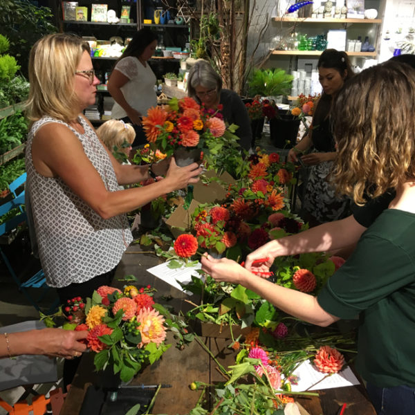 Floral Design Class at Ravenna Gardens in Seattle by Flirty Fleurs