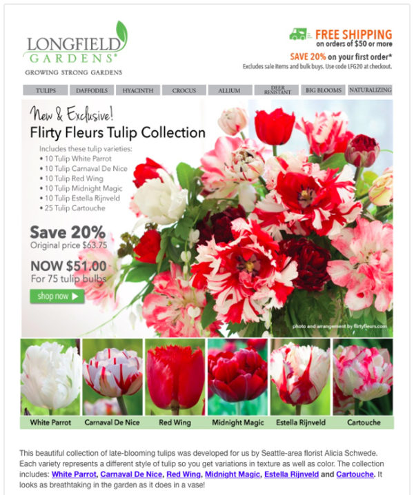 Flirty Fleurs has its own flower collection with Longfield Gardens!!