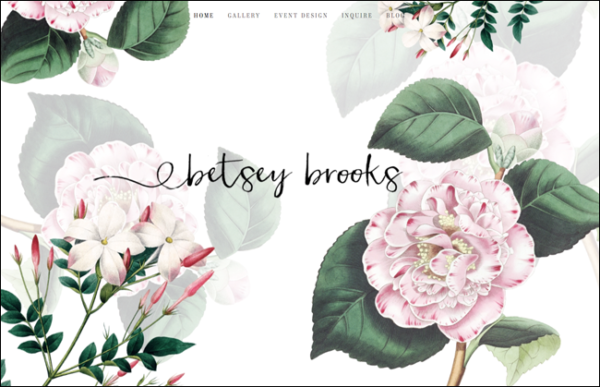 floral designer website, Betsey Brooks