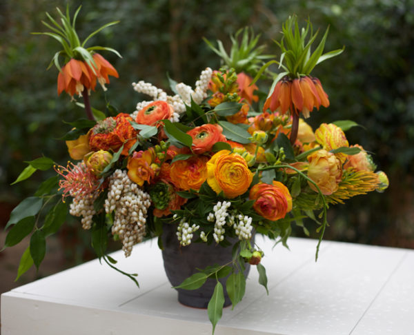 Bella Fiori arrangement with Fritillaria imperialis