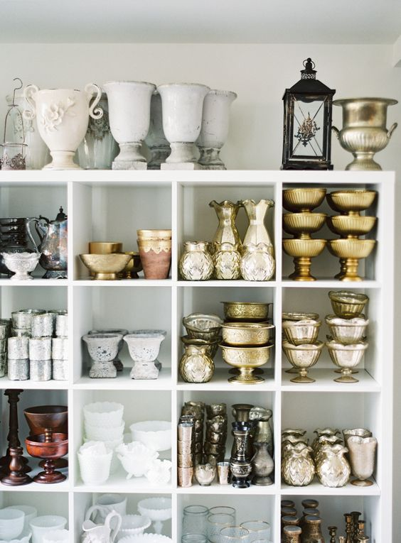 Floral & Bloom Designs - Bonnie Sen - florist shelves filled with vases and containers