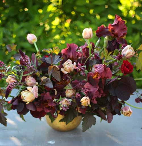 Love 'n Fresh Flowers, Jennie Love, burgundy floral arrangement
