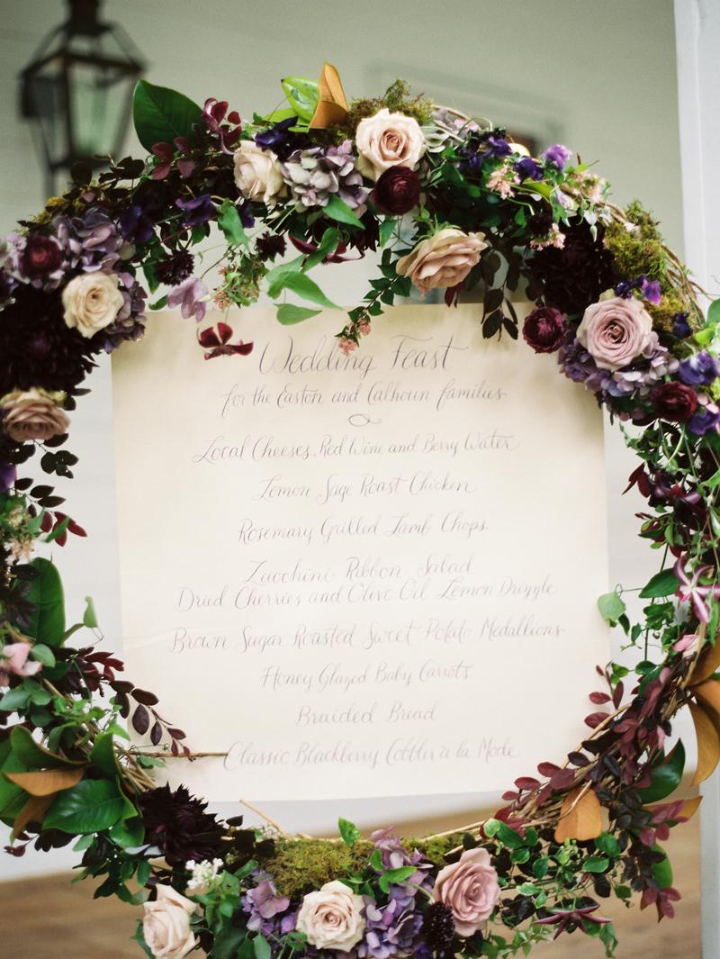 Myrtie Blues Floral Design, Florida. Lauren Kinsey Photography. flower circle arch