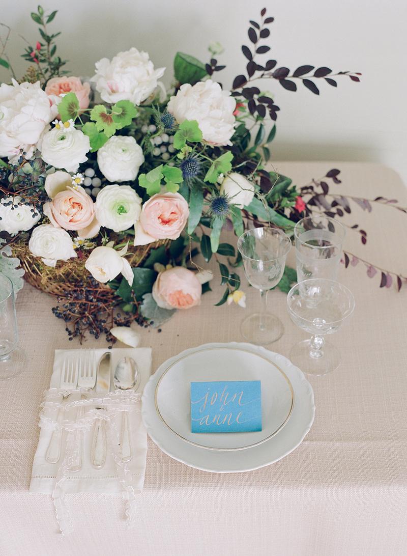 Myrtie Blues Floral Design, Florida. Elizabeth Messina Photography.