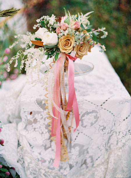 flowing antique ribbons