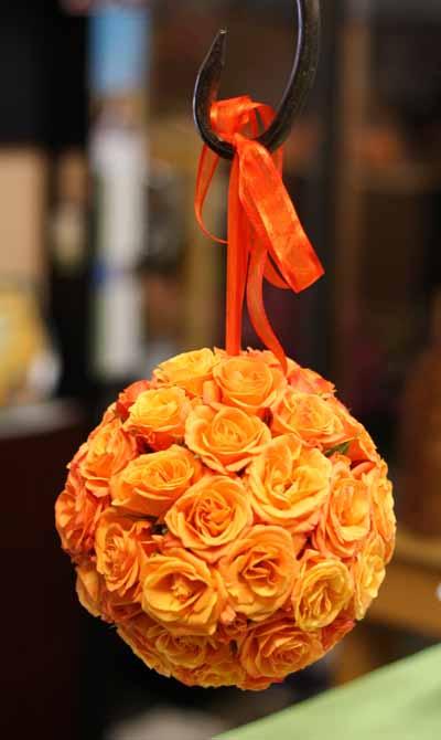 Orange spray rose pomander