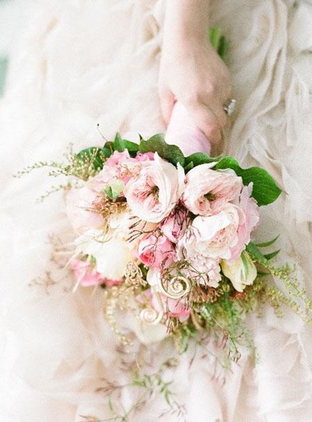 romantic blush pink bridal bouquet