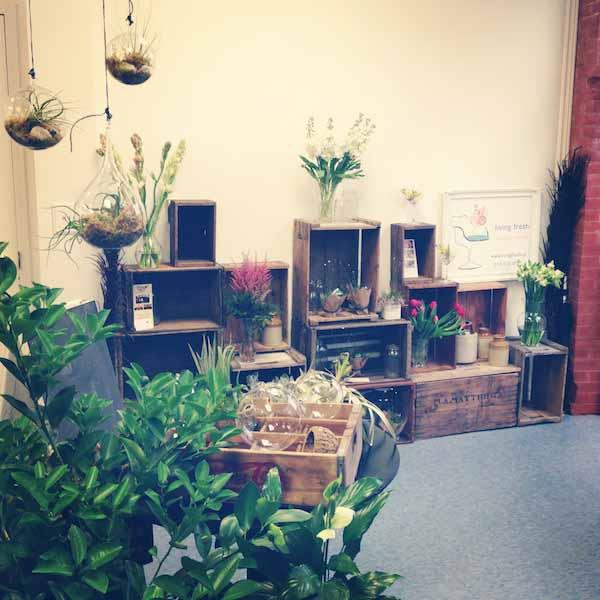 inside a flower shop