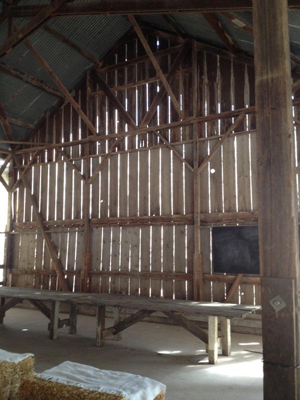 Rustic barn for wedding receptions