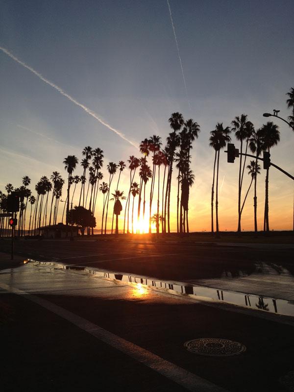 Sunrise at the Santa Barbara Beach