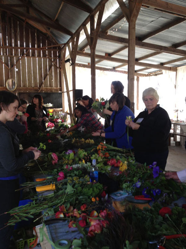 hands on class for bridal bouquets