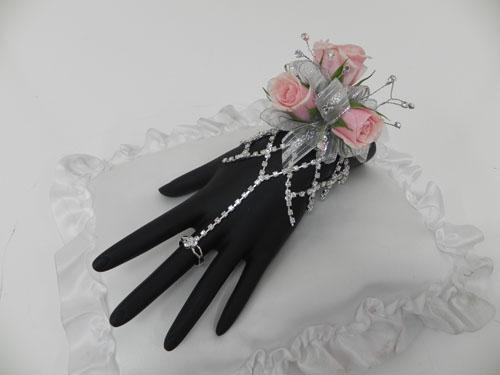 rhinestone wristlet corsage