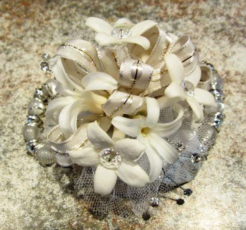 white hyacinth corsage
