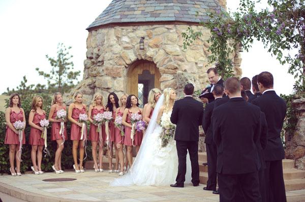 Ceremony site at Cherokee Castle and Ranch Sedalia Colorado