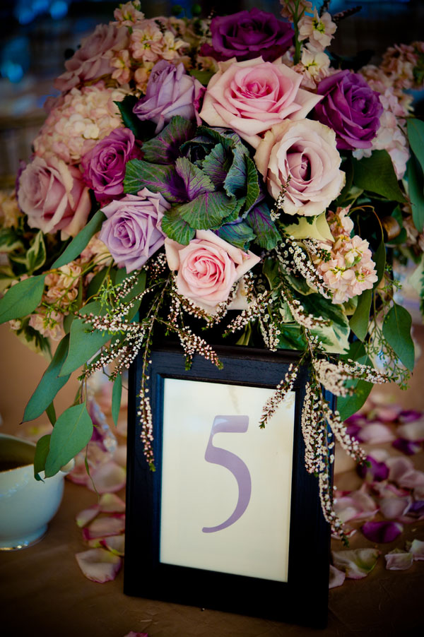 garden centerpiece with roses