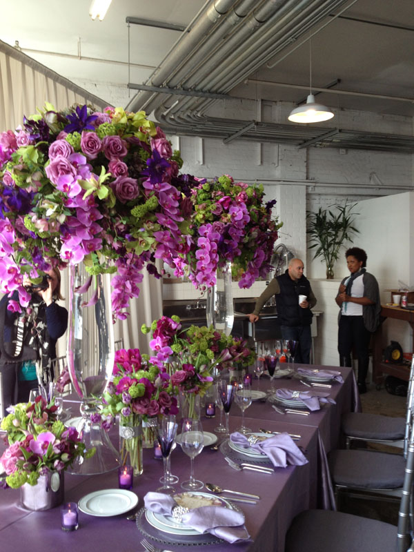 purple and green flowers for wedding