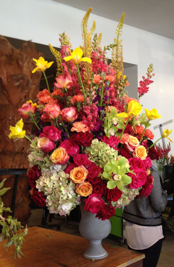 red yellow and green flower arrangement