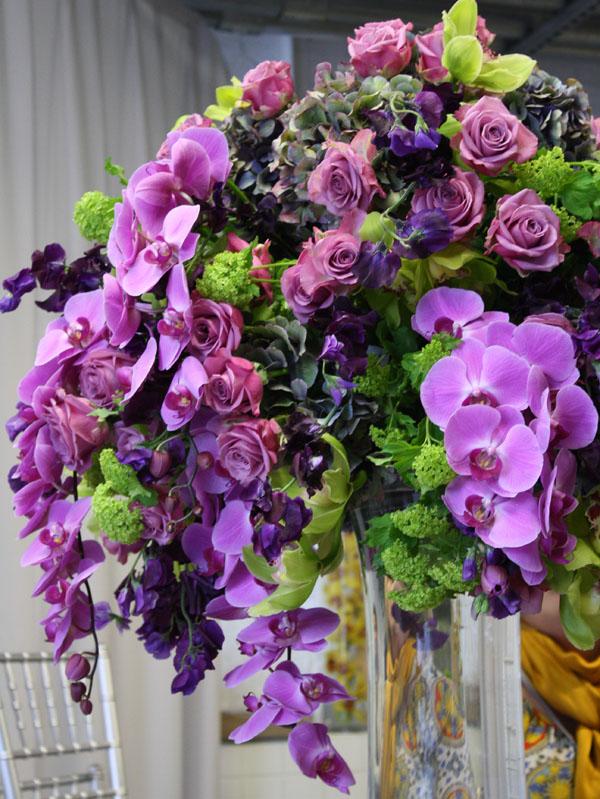purple and green arrangement