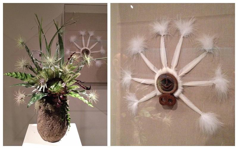 Floral Designer: Catherine Scott. Art Piece: Finger mask for Storytelling