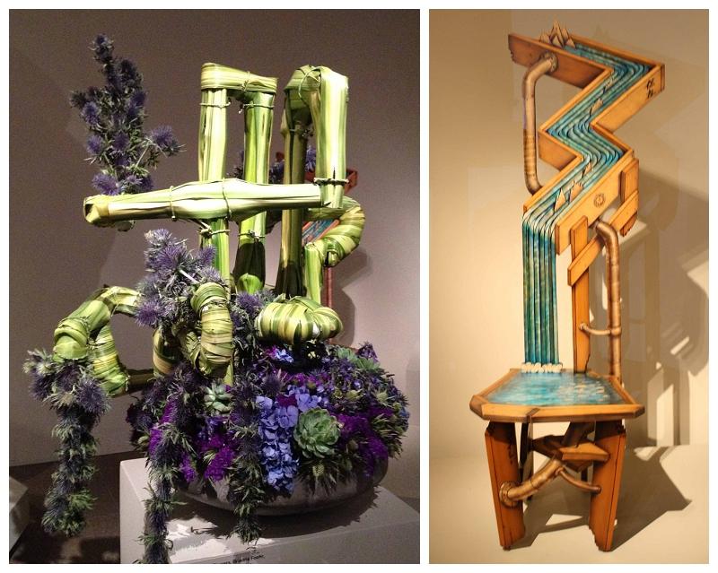 Floral Designer: Church Street Flowers. Art Piece: John Cederquist, Conservation Chair