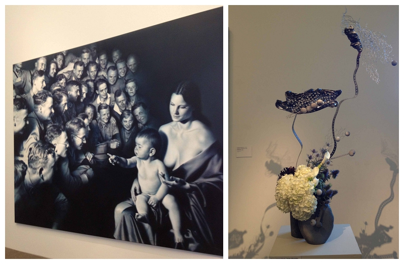 Floral Designer: Takako Ikebana Studio. Art Piece: Gottfried Heinwein, Ephiphany II