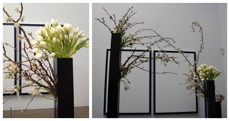 Floral Designer: Natalie Bowen Designs. Art Piece: Jo Baer, Untitled