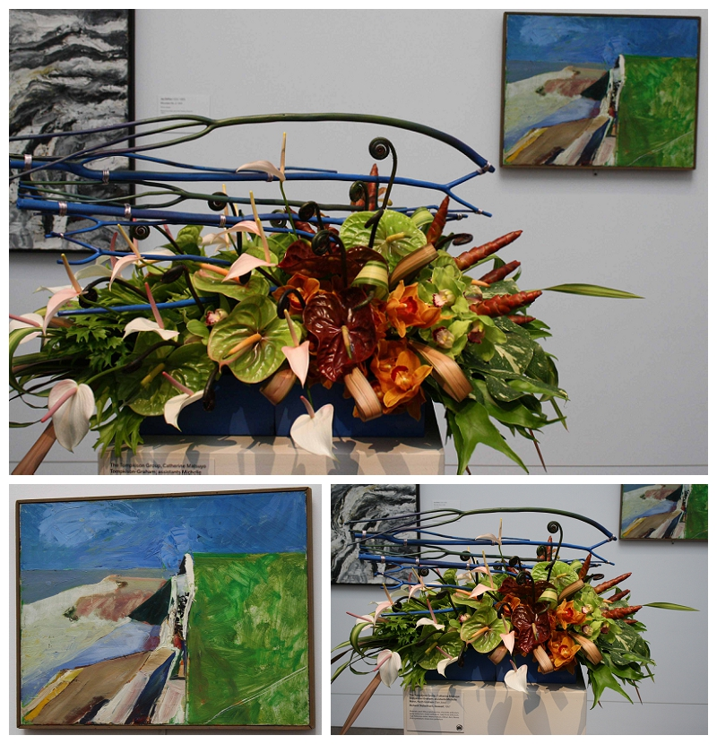 Floral Designer: The Tompkison Group. Art Piece: Richard Diebenkorn, Seawall